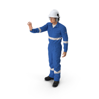 Oil Gas Worker Fully Equipped Standing Pose PNG & PSD Images