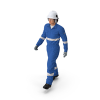 Oil Gas Worker Fully Equipped Walking Pose PNG & PSD Images