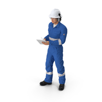 Oil Gas Worker Standing Pose Fur PNG & PSD Images