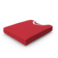 Male V Neck Folded Stacked White and Red PNG & PSD Images
