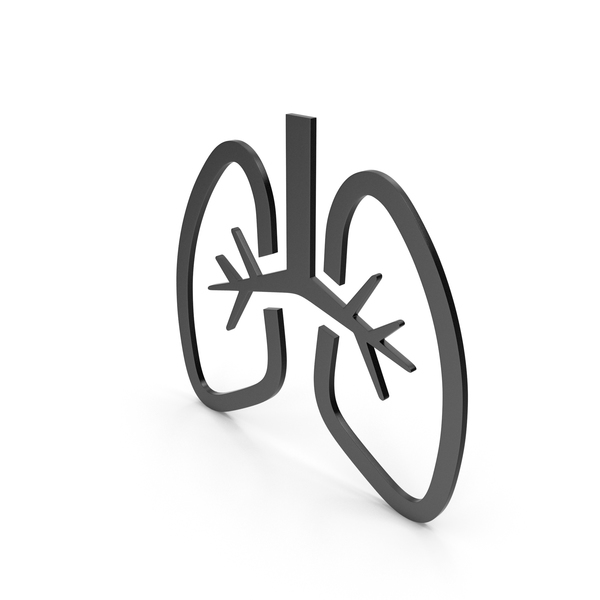 Lungs Black Icon PNG & PSD Images