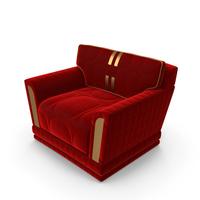 Red Velvet Art Deco Modern Gl Studio Mobili Di Italia Armchair PNG & PSD Images