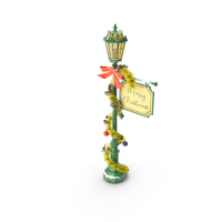 Christmas Post Lamp PNG & PSD Images
