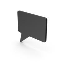 Symbol Speech Bubble Black PNG & PSD Images