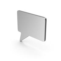 Symbol Speech Bubble Silver PNG & PSD Images