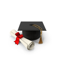 Graduation Hat and Diploma PNG & PSD Images
