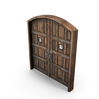 Medieval Wooden Door Double PNG & PSD Images