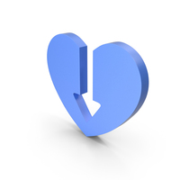 Heart Blue Icon PNG & PSD Images
