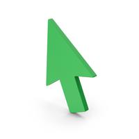 Symbol Cursor Arrow Green PNG & PSD Images