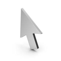 Symbol Cursor Arrow Silver PNG & PSD Images