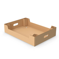 Corrugated Cardboard Tray Box PNG & PSD Images