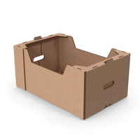 Fruit and Vegetables Packaging Cardboard Tray Box PNG & PSD Images
