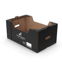 Fruit and Vegetables Packaging Cardboard Tray Box Black PNG & PSD Images