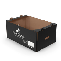 Fruit Packaging Corrugated Cardboard Tray Box Black PNG & PSD Images