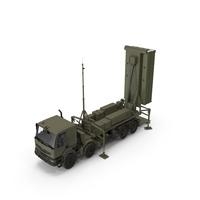 Mobile Medium Range Air Defense Missile System Armed Position PNG & PSD Images