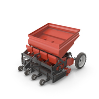 Potato Planter Red Used PNG & PSD Images