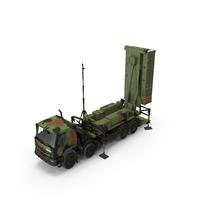 SAMP-T Air Defense Missile System Armed Position PNG & PSD Images