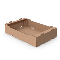 Stackable Corrugated Cardboard Fruit Tray PNG & PSD Images