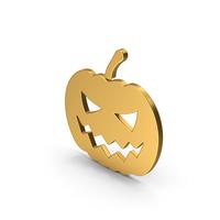 Gold Halloween Pumpkin Symbol PNG & PSD Images