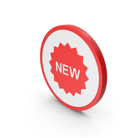 Icon New Badge Red PNG & PSD Images