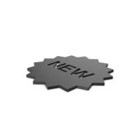 Black Symbol New Badge PNG & PSD Images