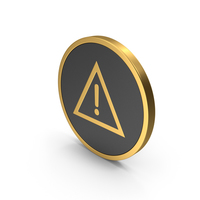 Gold Icon Warning Sign PNG & PSD Images