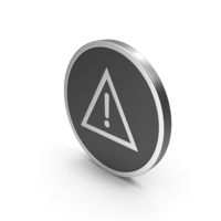 Silver Icon Warning Sign PNG & PSD Images