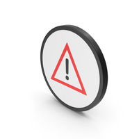 Icon Warning Sign Red PNG & PSD Images