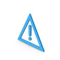 Warning Symbol Blue PNG & PSD Images