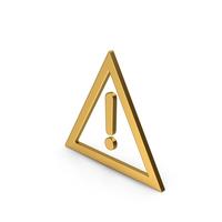 Symbol Warning Gold PNG & PSD Images