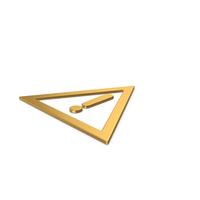 Gold Warning Symbol PNG & PSD Images