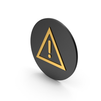 Warning Sign Gold Icon PNG & PSD Images