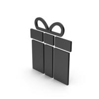 Symbol Gift Black PNG & PSD Images