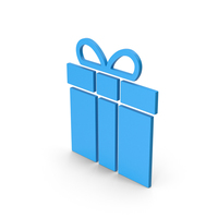 Symbol Gift Blue PNG & PSD Images