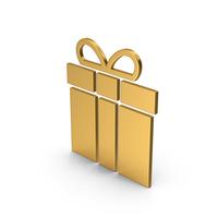 Symbol Gift Gold PNG & PSD Images