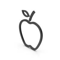 Symbol Apple Black PNG & PSD Images