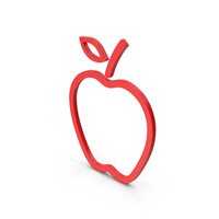 Symbol Apple Red PNG & PSD Images