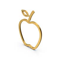 Symbol Apple Gold PNG & PSD Images