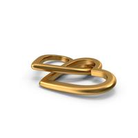Love Symbol Gold PNG & PSD Images