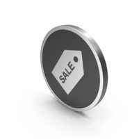 Silver Icon Sale Label PNG & PSD Images