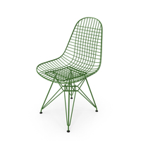 Wire Chair DKR Green PNG & PSD Images