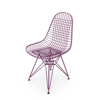 Wire Chair DKR Violet PNG & PSD Images