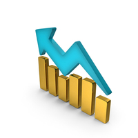 Stock Graph Gold PNG & PSD Images