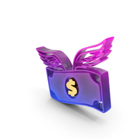 Dollar Flying Color PNG & PSD Images