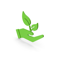 Hand Holding Plant Symbol PNG & PSD Images