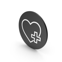 Heart With Medical Cross Icon PNG & PSD Images