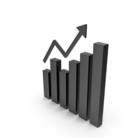 Bar Graph Black Icon PNG & PSD Images