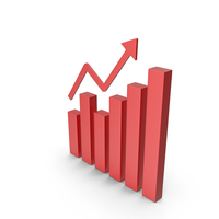 Bar Graph Red Icon PNG & PSD Images
