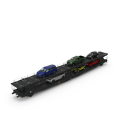 Autorack Car Transporter with Cars PNG & PSD Images