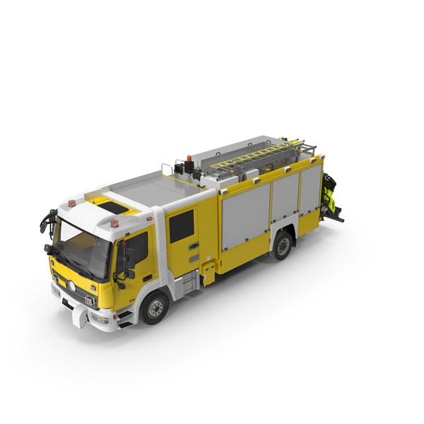 Modern Fire Truck Simple Interior PNG & PSD Images